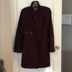 Vince Camuto Burgundy Winter Coat